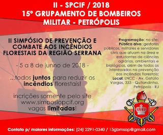 II Simpósio de Prevenção e Combate aos Incêndios Florestais da Região Serrana (SPCIF).