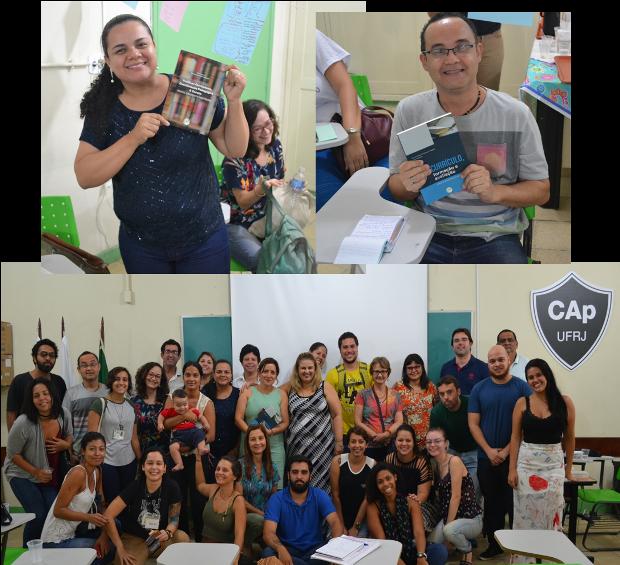 Encerramento: participantes ganham livros doados pela Professora Rita Frangella.