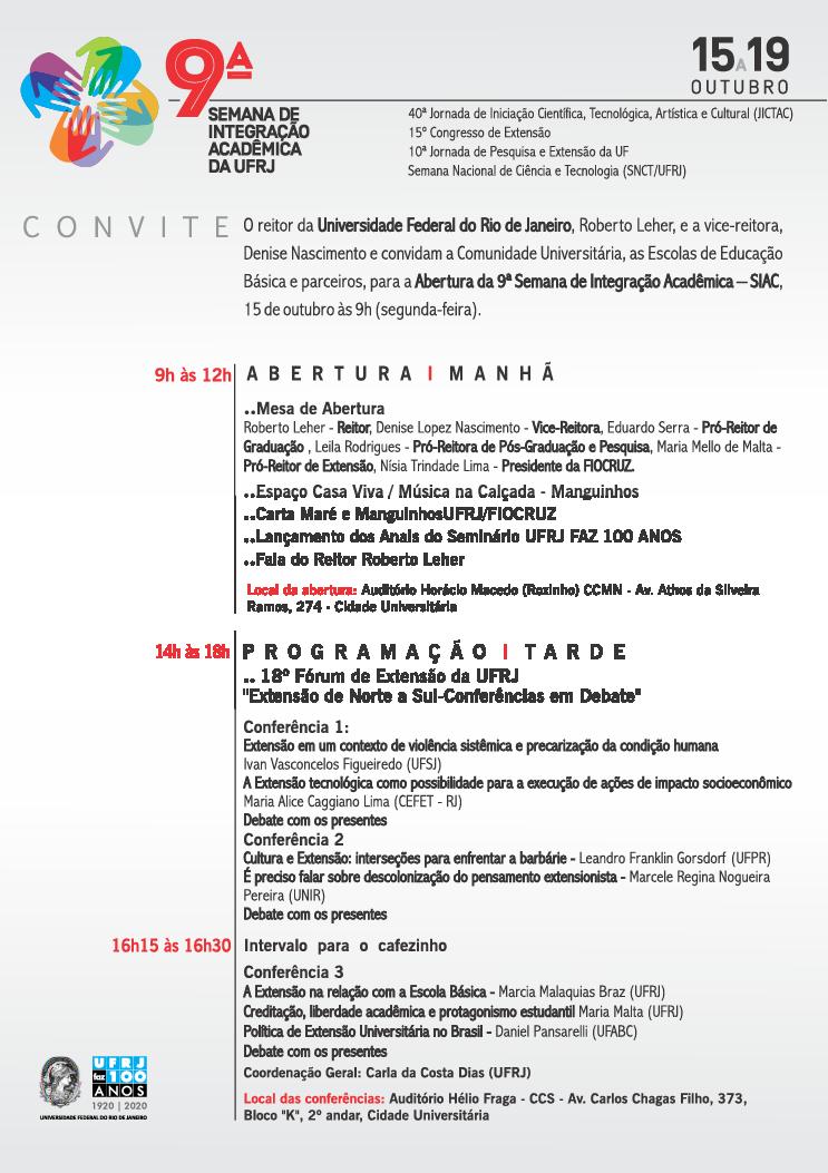 Convite - Abertura da SIAC